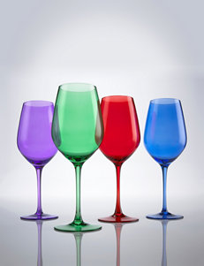 Wine Enthusiast 4-pc. Jewel Toned Wine Glasses