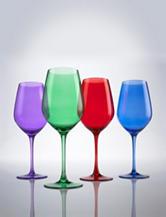 Wine Enthusiast 4-pc. Jewel Toned Wine Glasses