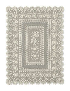 Heritage Lace Rose Rectangle Tablecloth