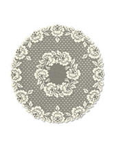 Heritage Lace Cottage Rose Round Table Topper
