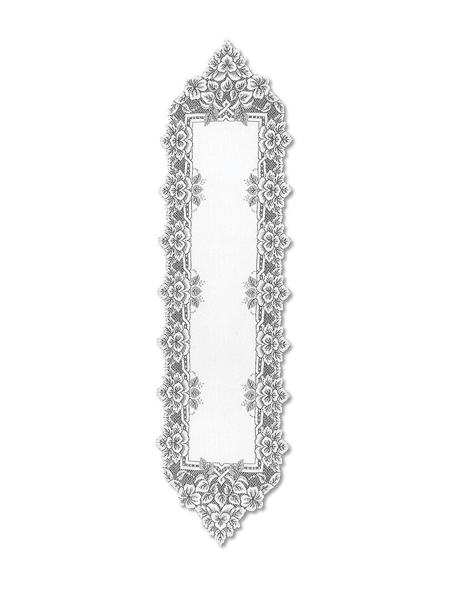 Heritage Lace White Table Runners Table Linens