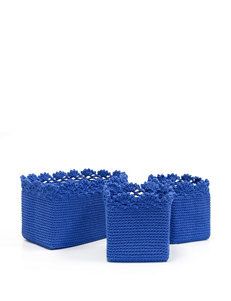 Heritage Lace 3-pc. Blue Crochet Basket Set