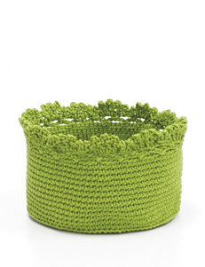 Heritage Lace Green Crochet Basket Set