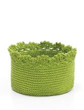 Heritage Lace Green Crochet Basket Set