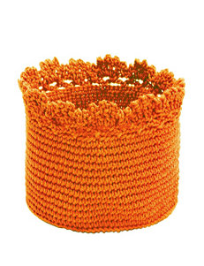 Heritage Lace Orange Crochet Basket Set