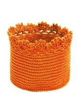 Heritage Lace Orange Crochet Basket Set