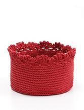 Heritage Lace Red Crochet Basket Set