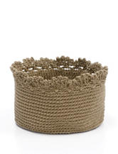 Heritage Lace Tan Crochet Basket Set