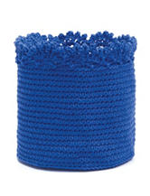 Heritage Lace Blue Crochet Basket Set