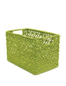 Heritage Lace Green Crochet Wire Basket