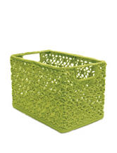 Heritage Lace Green Crochet Wire Basket