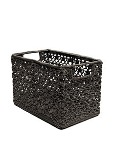 Heritage Lace Charcoal Crochet Wire Basket