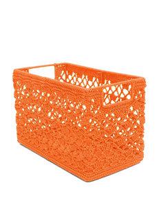 Heritage Lace Orange Crochet Wire Basket