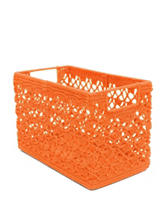 Heritage Lace Orange Crochet Wire Basket