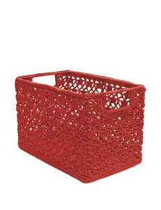 Heritage Lace Red Crochet Wire Basket