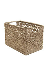 Heritage Lace Tan Crochet Wire Basket