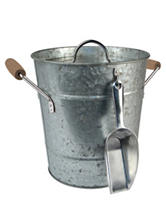 Artland Oasis Galvanized Ice Bucket with Scoop