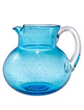 Artland Iris Bubble Glass Pitcher