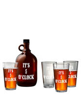 Artland 5-pc. It's 5 O'clock Beer Growler Set