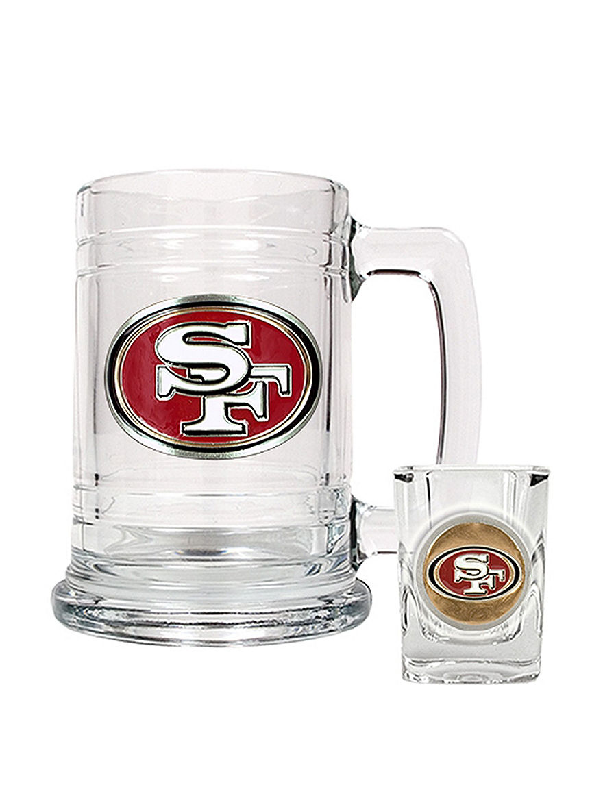 NFL Clear Beer Glasses Cocktail & Liquor Glasses Drinkware Sets Mugs Drinkware NFL