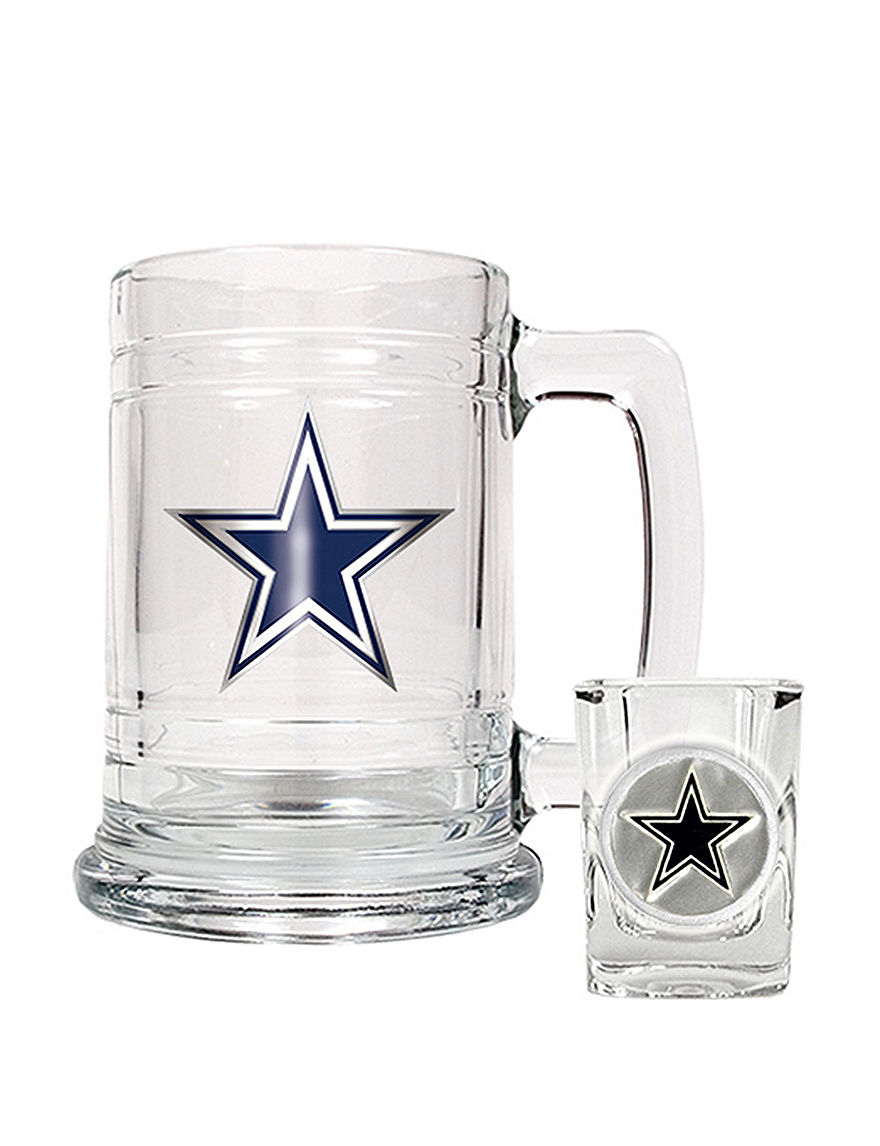 NFL Clear Beer Glasses Cocktail & Liquor Glasses Drinkware Sets Mugs Bar Accessories Drinkware NFL
