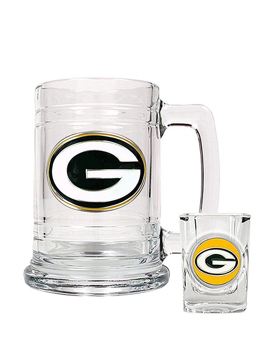 NFL Clear Beer Glasses Cocktail & Liquor Glasses Drinkware Sets Everyday Cups & Glasses Mugs Bar Accessories Drinkware NFL