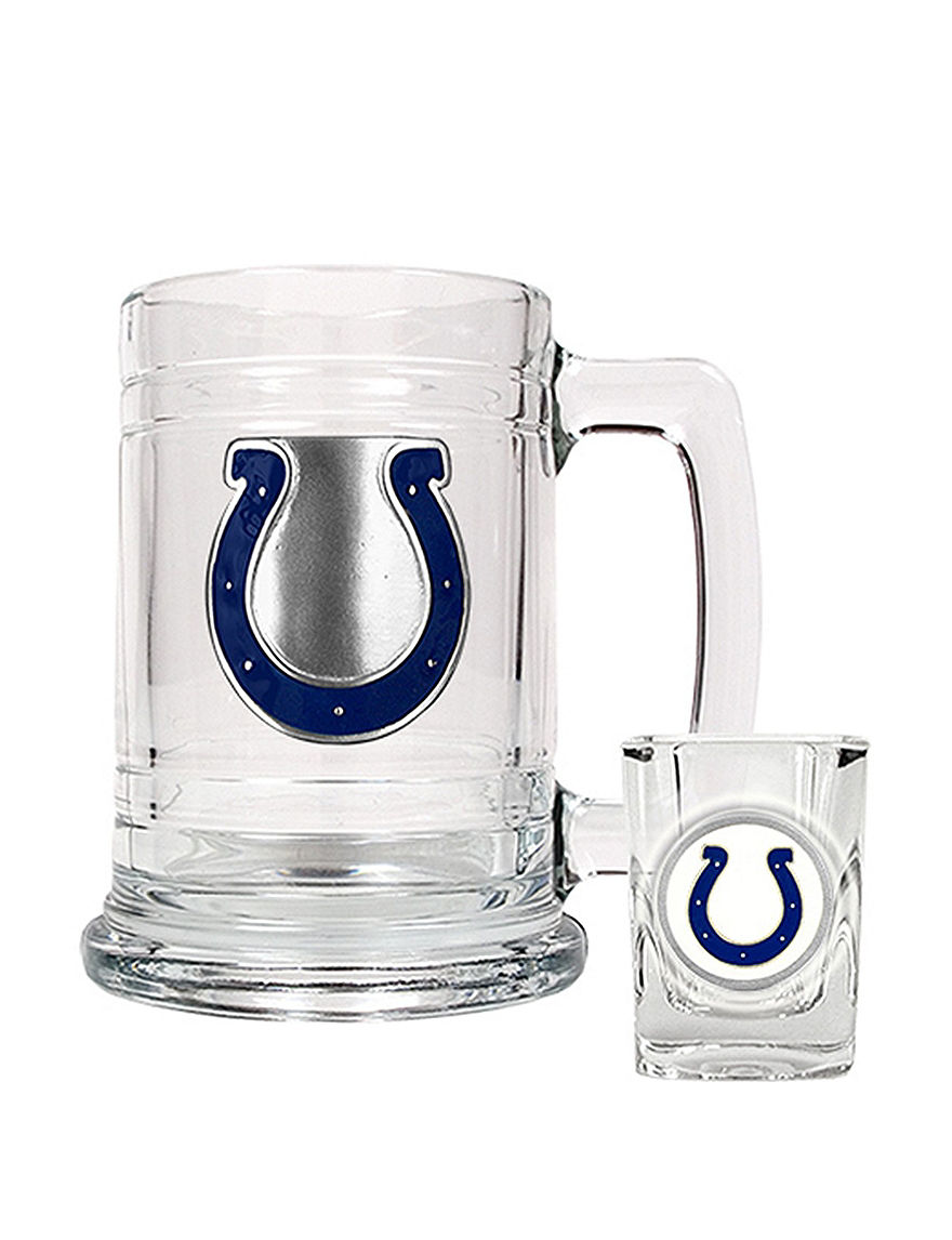 NFL Clear Beer Glasses Cocktail & Liquor Glasses Drinkware Sets Everyday Cups & Glasses Mugs Drinkware NFL