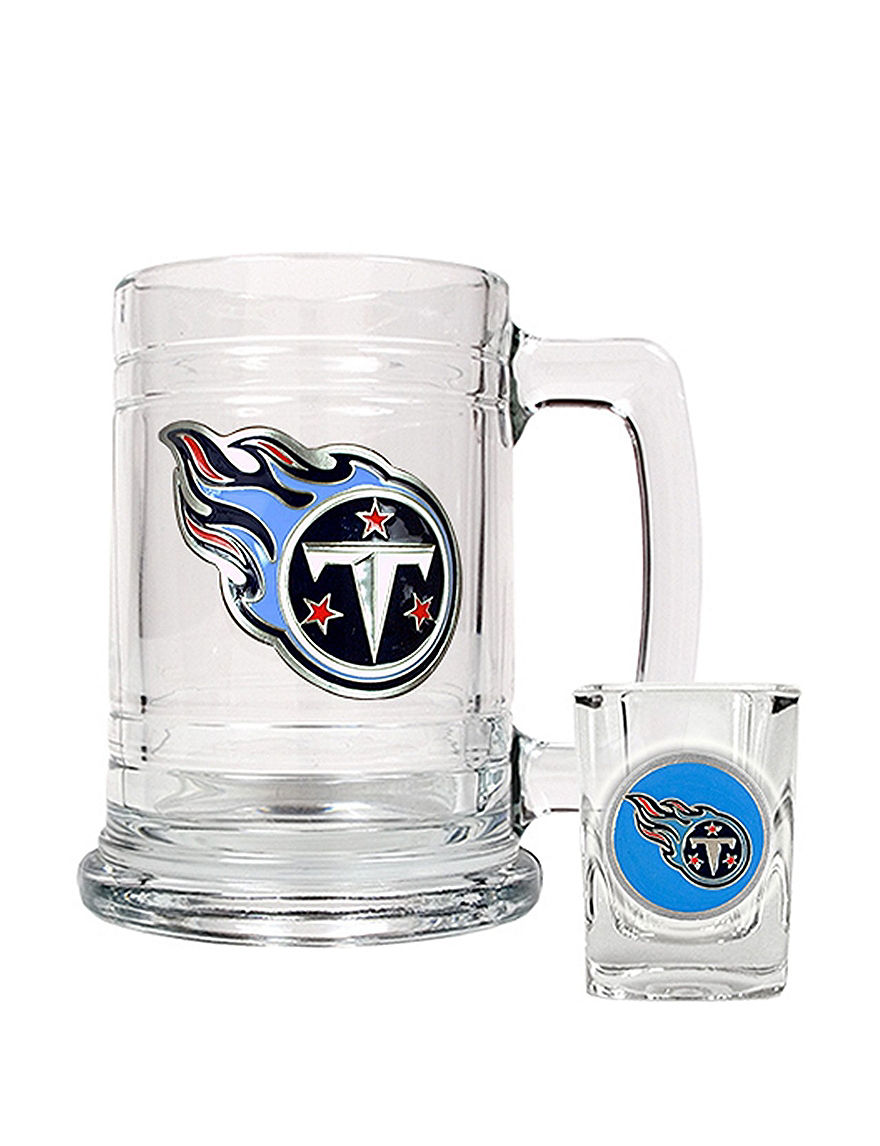 NFL Clear Beer Glasses Mugs Drinkware NFL