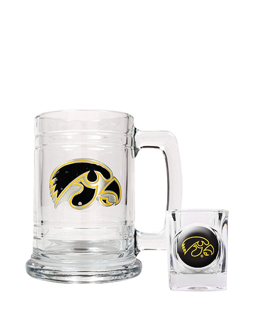 NCAA Clear Beer Glasses Cocktail & Liquor Glasses Mugs NCAA