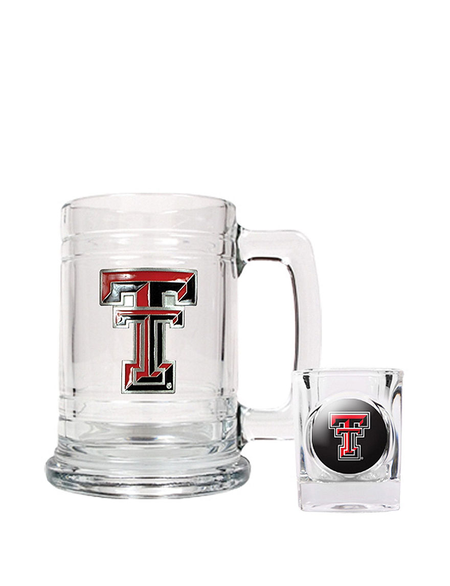 NCAA Clear Beer Glasses Cocktail & Liquor Glasses Mugs Bar Accessories Drinkware NCAA