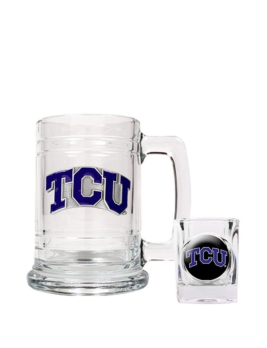 NCAA Clear Beer Glasses Cocktail & Liquor Glasses Bar Accessories Drinkware NCAA