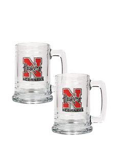 Nebraska Cornhuskers® 2-pc. Glass Tankard Set