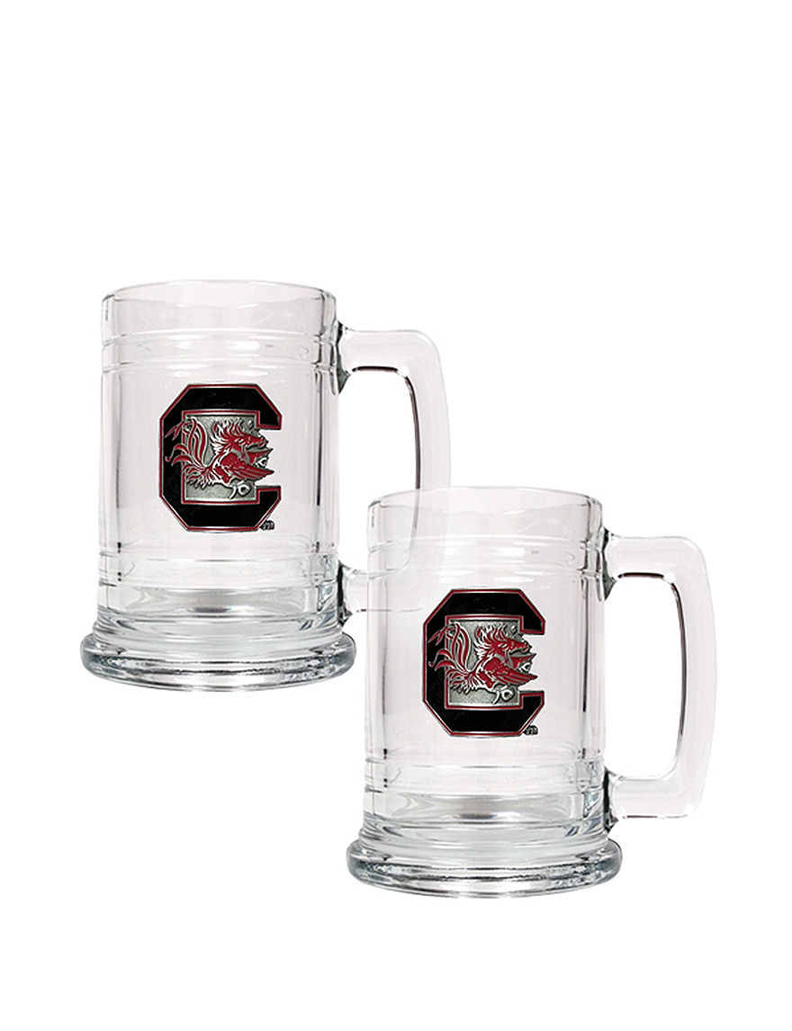 NCAA Clear Beer Glasses Everyday Cups & Glasses Mugs Bar Accessories Drinkware NCAA