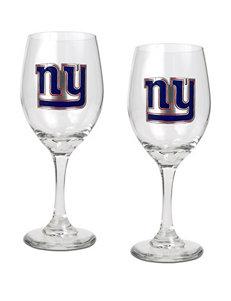 New York Giants 2-pc. Wine Glass Set