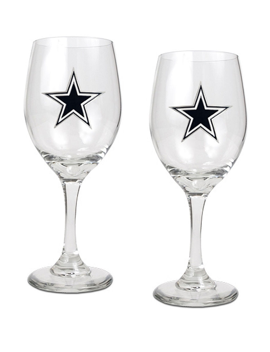 NFL Clear Drinkware Sets Wine Glasses Drinkware NFL