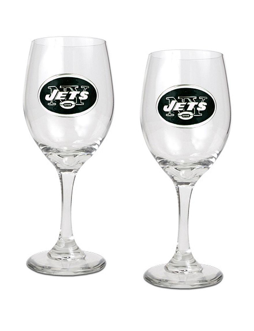 NFL Clear Wine Glasses Drinkware NFL