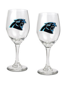 NFL Clear Drinkware Sets Wine Glasses Drinkware NFL