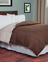 Lavish Home Reversible Chocolate & Taupe Down Alternative Comforter