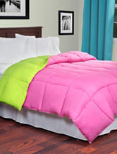 Lavish Home Reversible Pink & Lime Green Down Alternative Comforter