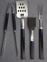 Charcoal Companion 4-pc. Perfect Chef BBQ Tool Set