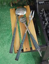 Charcoal Companion 3-pc. Golf Club BBQ Tool Set