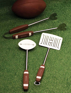 Charcoal Companion 3-pc. Football BBQ Tool Set