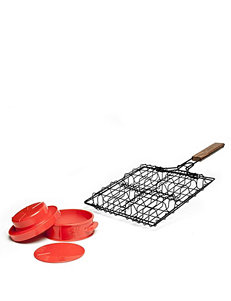 Charcoal Companion 2-pc. Stuff A Burger Basket & Press Set