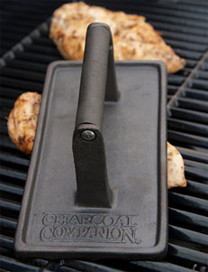Charcoal Companion Cast Iron Rectangular Grill Press