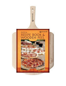 Pizza Craft 2-pc. Recipe Book & Wood Peel