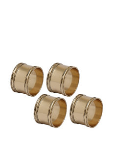 Design Imports 4-pk. Antique Gold Band Napkin Ring