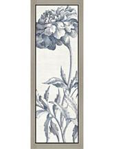 Green Leaf Art Blue & White Floral III Framed Canvas
