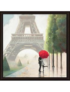 Green Leaf Art Paris Romance II Framed Canvas