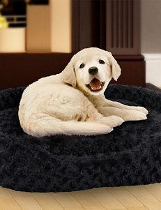 PAW Large Cuddle Round Plush Pet Bed