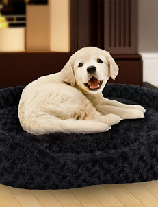 PAW Large Cuddle Round Plush Pet Bed